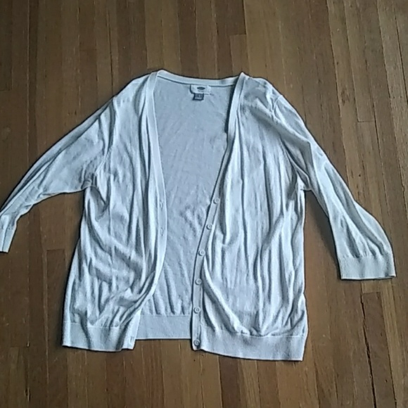 Old Navy Sweaters - White cardigan